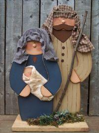 I love this Nativity! Christmas Manger, Christmas Wood Crafts, Christmas Nativity Scene, Primitive Christmas, Outdoor Christmas, Christmas Projects, Holiday Crafts, Christmas Holidays, Christmas Decorations