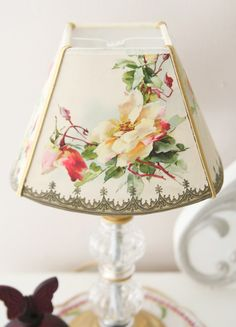 flowered lamp shade - vintage look