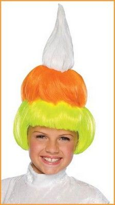 Kids Candy Corn Wig - white, orange and yellow candy corn wig Kids Wigs, Yellow Candy, Halloween Wigs, Discount Curtains, Warm Coat, Candy Corn, Ronald Mcdonald, Costumes, Children