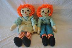 Original 1950's Era Raggetty Ann & Andy Dolls