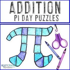 ADDITION Pi Day for Elementary Students - FUN Puzzle Activities or Math Centers | 1st, 2nd, 3rd grade, Activities, Basic Operations, Games, Holidays/Seasonal, Homeschool, Math, Math Centers Addition Facts, Math Math, Pi Day, Special Education Classroom, Homeschool Math, Rubrics, Math Centers, Books To Read, Puzzle