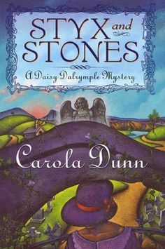 Styx and Stones: A Daisy Dalrymple Mystery by Carola Dunn. The series is set in 1920's England. Very entertaining! Tea, cocktails, and murder!! I recommend all the Daisy Dalrymple books.