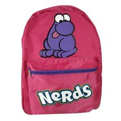 Can you imagine walking around with this backpack and having it full of Nerds candy?