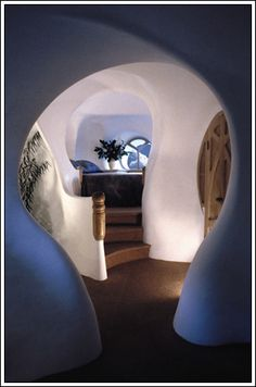 roger dean's willowater.  This is a cob house, but I love the curves in this pic.