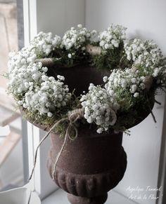 Art de la Fleur ' Floral , Flowers , Angelique Temmink Waalboer , Wreath , Krans , Bloemschikken , Workshop.moss , Gipskruid , www.artdelafleur7.nl