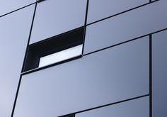 Realisation by www.RTEK.be Aluminium cladding Powdercoating Aluminium gevelbekleding Architect Goedele Van Hoecke