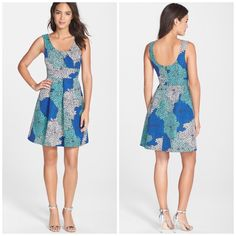 Plenty By Tracy Reese Floral Fit & Flare Dress