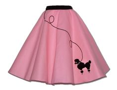 Skirt Outfits | PC Adult 50's Poodle Skirt Outfit Choose Size Color | eBay