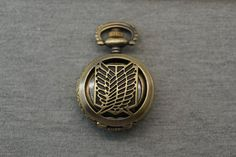 Attack on Titan Pocket Watch Antique Bronze Small by SUPPLIESBAR $4.04