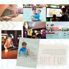 2paws Designs: Friday Freebie: Disney Resort Fun #digitalscrapbooking #digiscrap #scrapbooking #template #disney