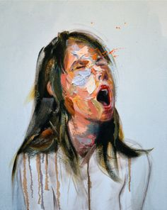 "Saatchi Online Artist: Mathieu Laca; Oil 2013 Painting ""Scream"""