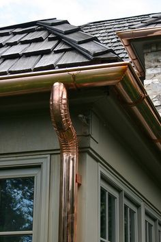 Copper gutters & downspouts