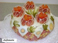Sandwich Cake, Sandwiches, Food Design, Food Art, Buffet, Appetizers, Food And Drink, Pudding, Snacks