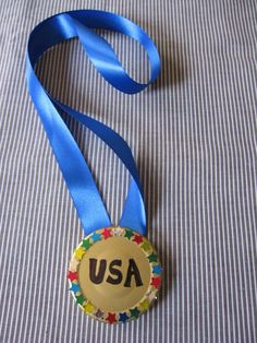 Olympic Gold Medal Craft for Kids...or a DIY award medal teachers can make
