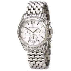 awesome Pressley Chronograph White Dial Stainless Steel Ladies Watch MK5834 - For Sale