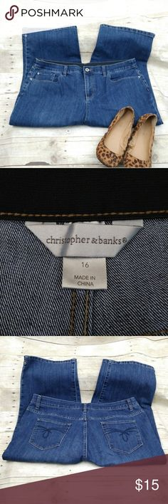 Christopher & Banks Capris/Cropped Jeans Size 16 Christopher & Banks Capris/Cropped Jeans Size 16.  Photos are the description of this item. Any flaws will be noted. Otherwise article is in excellent condition. Christopher & Banks Jeans Ankle & Cropped