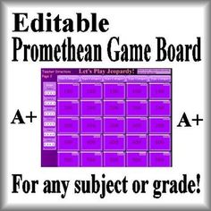 This is the best jeopardy powerpoint on the internet fully editable this is an editable activinspire promethean game board jeopardy template simply add your own questions fandeluxe Gallery