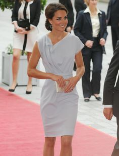 Princess Kate - I'd love to see her wear more daring fashion such as this. This is still modest, but a bit daring in cut.