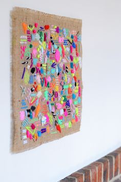 Wall Hangings for a Top Expressive Home wall hangings i stopping thinking about illustrator and textile artist elizabeth wall ZOIWJGN Embroidery Art, Embroidery Stitches, Embroidery Patterns, Art Projects, Sewing Projects, Brazilian Embroidery, Textile Artists, Elementary Art, Fabric Art