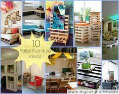 """10 Pallet Furniture Tutorials +""""~:,<;"""