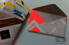 Recycled Magazine Envelopes UpCycled Text and by PopularDesigns, $5.00