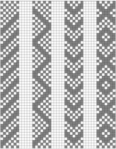 Basic pattern elements. Inkle weaving.