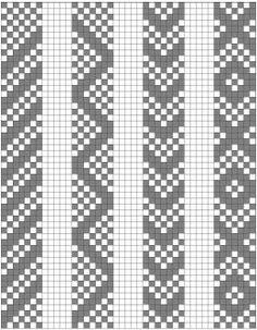 Basic pattern elements. Inkle weaving.