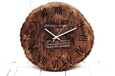Items similar to Large Wall Clock Rustic Wall Hanging Driftwood Engraved Wood Anniversary Gift Idea Oak Wook on Etsy Rustic Wall Clocks, Wood Clocks, Driftwood Furniture, Buy Driftwood, Wood Anniversary Gift, Anniversary Ideas, Metal Hangers, Wood Creations, Etsy