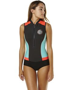 4aa324a470 RIP CURL G-BOMB SLEEVELESS FRONT ZIP SPRINGSUIT WETSUIT - GREY