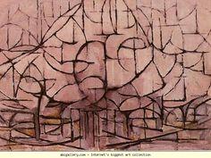 Piet Mondrian. Trees in Blossom. / Bloeiende  bomen. Olga's Gallery.