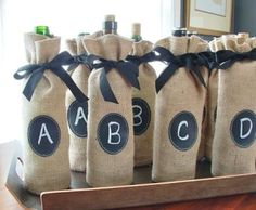 DIY wine tasting party....look for fun scorecard templates online...winner gets a prize (maybe a chic bottle topper)
