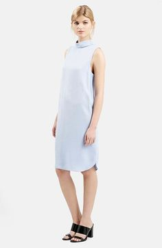 Topshop+'Milo'+Mock+Collar+Tunic+Dress+available+at+#Nordstrom