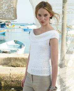Free crochet pattern - Santorini by Marie Wallin in Rowan: http://www.mcadirect.com/shop/rowan-siena-ply-100-cotton-p-2563.html
