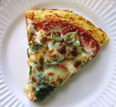 Doughless Pizza,,,cauliflower crust. This has become a regular recipe for carbless pizza in my house on Sunday night.  My husband, who hates cauliflower, even has eaten a few pieces.  Very easy to make, and very healthy!
