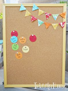 Pin board. She used it as a summer bucket list, but reverse, by putting on the things they have done rather than taking things off. cute