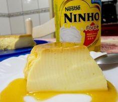 Pudim de leite ninho fácil de fazer que não vai ao forno e que não leva ovo na receita.