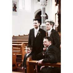 Niall at Greg's wedding ❤ liked on Polyvore featuring one direction, niall, niall horan, 1d and people