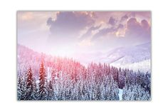 Winter Forest with Snow on a Canvas Picture Wall Art by CanvasItUp