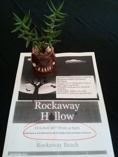 """Join us at """"Rockaway Hollow"""" this Saturday if you dare! Come to Rockaway Beach to celebrate the Halloween  season hosted by Rockaway Beach Merchants. Parade and kids' costume contest at 4:00 p.m. Followed by trick or treating at merchants. Prize given to top costume in each age group! Prize is $50 Visa gift card donated by  Rockaway Beach Merchants!!! Free mini-cupcakes donated by Pacificakes Bake Shop inside Urban Succulent while they last… — in Pacifica."""