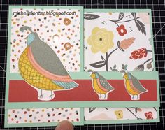 Show and Tell, with Michelle: April Stamp of the Month Blog Hop ~ Flock Together