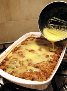 Grandma's Old-Fashioned Bread Pudding and Vanilla Sauce