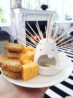 Add a toothpick monster to your cheese plate. #Etsy