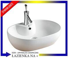 Umywalka Ceramiczna DORI STOJĄCA NABLATOWA + DYWAN