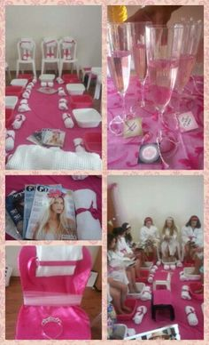 Spa party for little girls