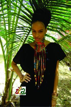 Golden Jubilee Ankara Fabric Beaded Collar Fringe by iladesigns, $30.00