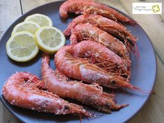 Langostinos a la sal con Thermomix Fish And Seafood, Shrimp, Sausage, Cooking Recipes, Meat, Healthy, Animal, Design, Gastronomia