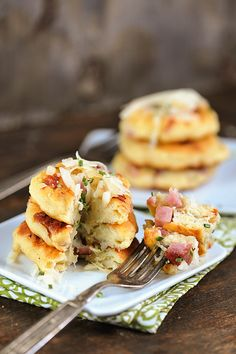 Ham and Cheese Potato Pancakes recipe created with our Grand Cru alpine cheese #adventureawaits #RothCheese