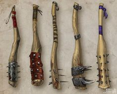 guro: Concept art: A selection of lethal weapons