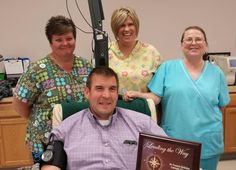 Many thanks & congratulations to St. Francis DeSales Catholic Parish in Lebanon - Silver partners in the CBC LifeSaving Ambassadors Club for blood drive excellence in 2013! Coordinator Bob Magness received the award from CBC's Bill Roy while donating at the CBC West Chester Donor Center. Kristy, Peggy, & Jackie joined him in the cheering section!