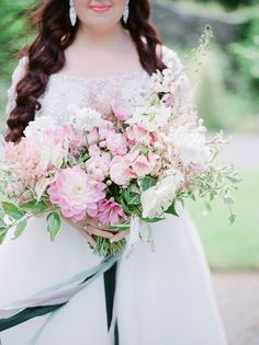 Wedding Bouquets : Pink astilbe, dahlia, and rose wedding bouquet: www. Dahlia Bouquet, Rose Wedding Bouquet, Floral Wedding, Bridal Bouquets, Wedding Flowers, Destination Wedding Photographer, Destination Weddings, Nashville Wedding, Wedding Trends